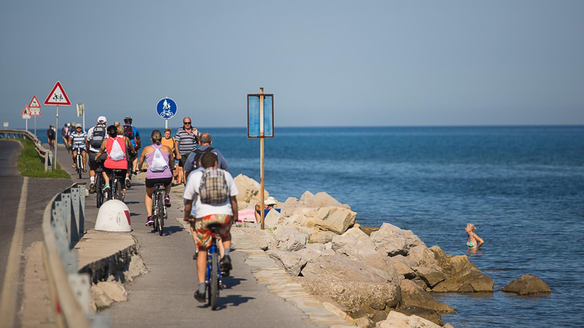 Parenzana Biking Tour Seafood Lunch Croatian Istria