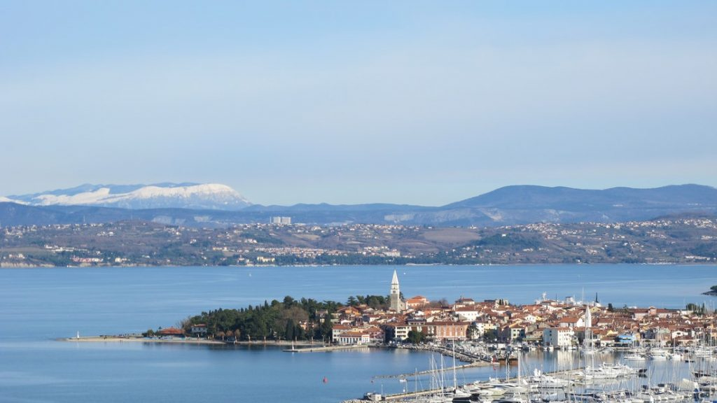 izola city sea panoramic view