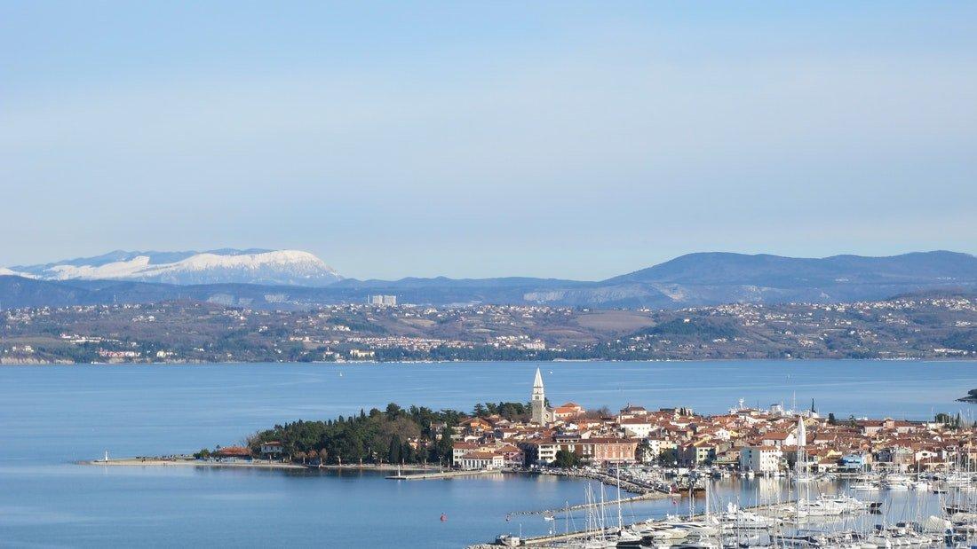 izola city sea panoramic view